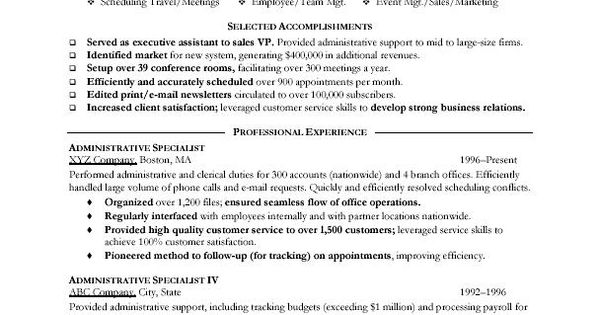 Great Administrative Assistant Resumes