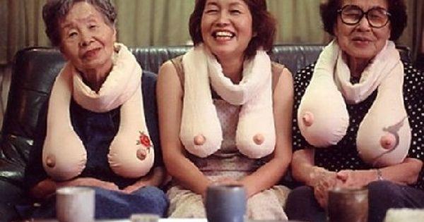 japanese boob scarf