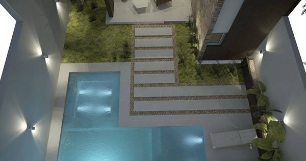Fotos de piletas de estilo moderno dise o de patios for Fotos patios pequenos