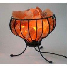 Himalayan Wrought Iron Salt Lamp Salt Lamp Himalayan Salt Lamp Benefits Salt Lamp Benefits