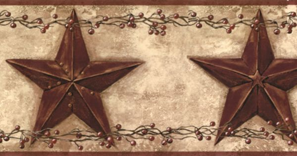 Country Stars Wall Border Wallpaper Decor Wall Borders Wallpaper Border