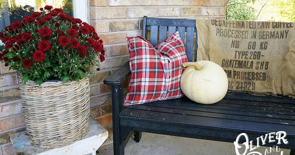 Oliver and Rust :: Fall Outside 2013, workshirt plaid pillow cover : OUR HOME : Pinterest : Rust ...