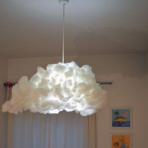 Lampadari Per Camerette Bambini Ikea.Lampadario Ikea Varmluft Trasformato In Soffice Nuvola Nel