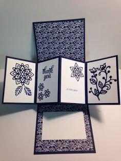 Pivot Twist Pop Up Rose Wonder Garden Thank You Card Pop Up Cards Fun Fold Cards Fancy Fold Cards