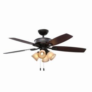 Hunter Belmor 52 In New Bronze Indoor Ceiling Fan 52059 At The Home Depot Mobile Ceiling Fan Ceiling Fan With Light Ceiling Fan Light Kit