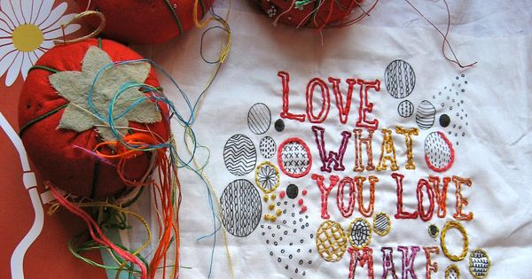 DIY Love Embroidery Sampler. $15.00, via drop cloth on Etsy.