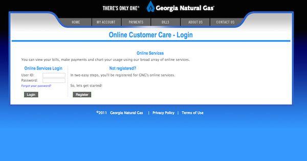 Georgia Natural Gas Login | Websites | Pinterest