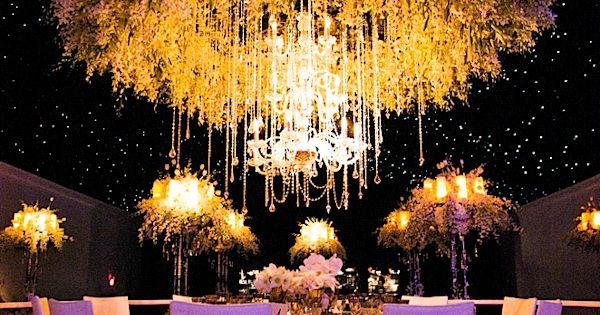 Breathtaking wedding table arrangement.