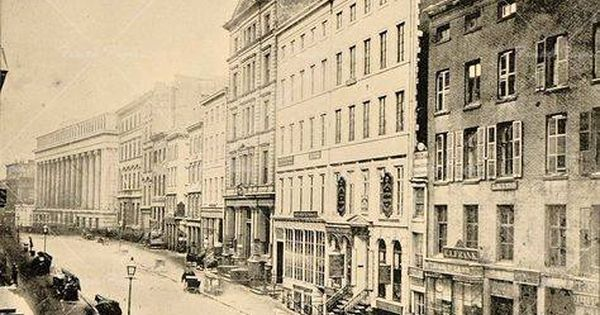 Early Photo Of Wall Street In 1863 New York City New York