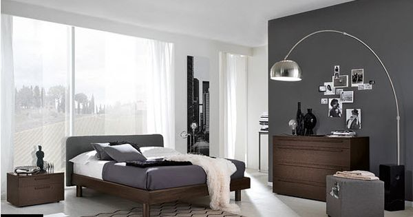 Modern Gray Themed Bedroom       Future Abode       Pinterest   Grey walls   Grey and Floor lamps. Modern Gray Themed Bedroom       Future Abode       Pinterest