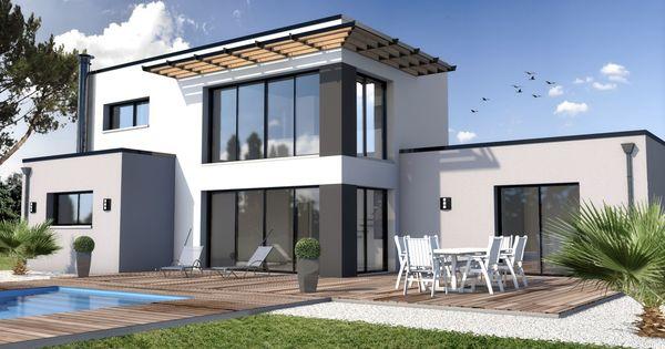 Constructeur maison moderne la turballe loire atlantique for Constructeur maison contemporaine eure et loir
