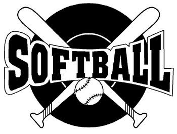 Softball Player Sports Coloring Pages Softball Clipart Softball