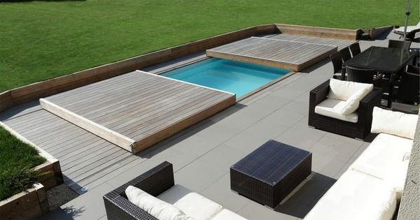 rolling deck piscinelle passez de piscine terrasse en un clin d il l 39 olivier et la. Black Bedroom Furniture Sets. Home Design Ideas