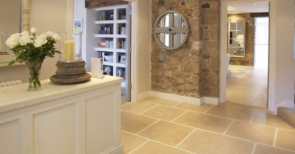 Possibly how our Kitchen floor will look, with skirting board and an