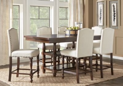 Stanton Cherry 7 Pc Counter Height Dining Room Farmhouse Dining Room Table Modern Farmhouse Dining Room Dining Room Sets