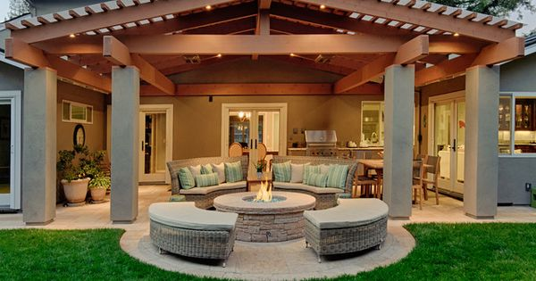 9 Best Outdoor Patio Ideas with Fire Pit Designs | l.h.InteriorDesign