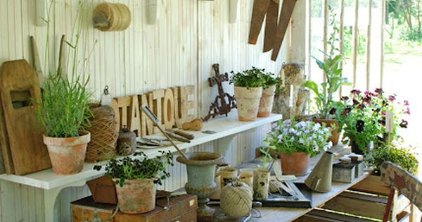 Garden house and potting bench!