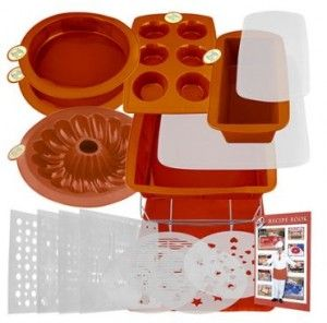Smartware 19 Piece Deluxe Silicone Bakeware Set Only 16 99