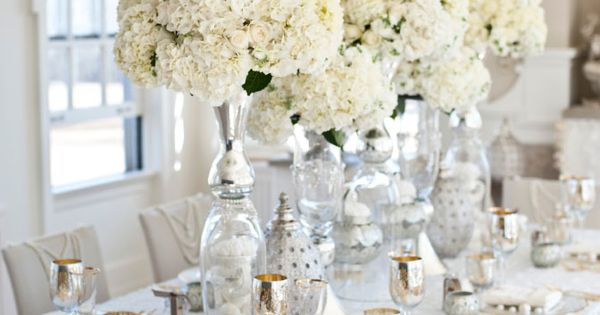 white table setting...