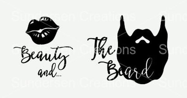 Beauty And The Beard Svg Amp Dxf File By Sundersencreations
