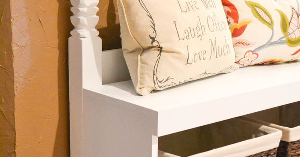 DIY Headboard Bench. (can be used with any size headboard) hmm... maybe