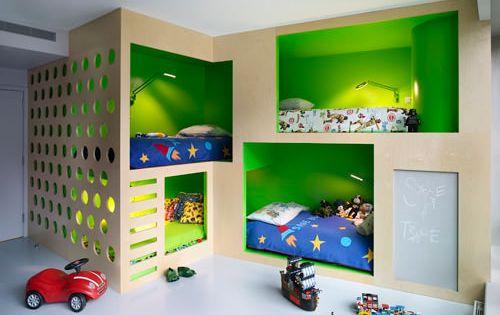 Bunk Bed Plans for Kids Bedroom Ideas | Home Interior Design