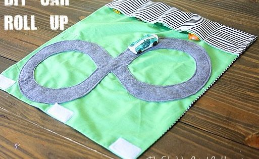 Handmade Christmas Gifts: Car Roll Up - A great gift idea for