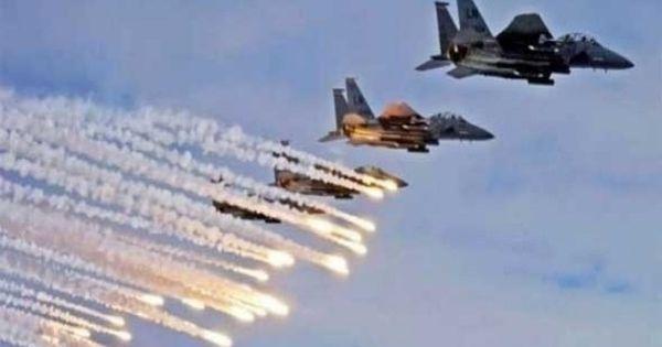 طائرات النظام السوري تقصف مخيم خان الشيح للاجئين الفلسطينيين في