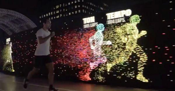 Espectacular Pista Led En El Nike Unlimited Stadium Running