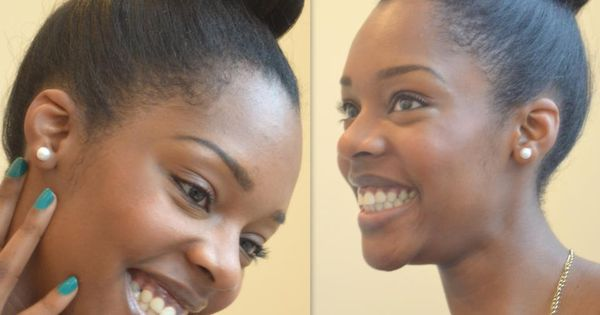 natural hair buns -
