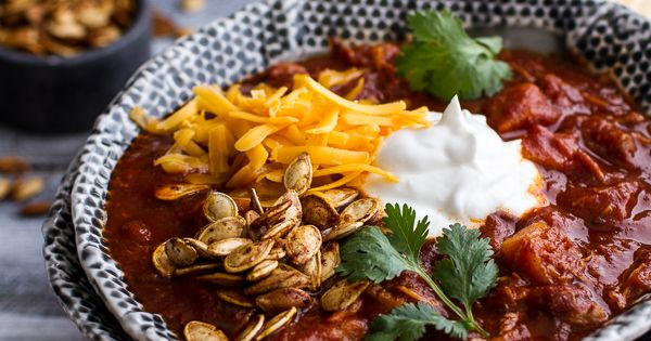 Pumpkin chili, Roasted pumpkin seeds and Pulled pork on Pinterest