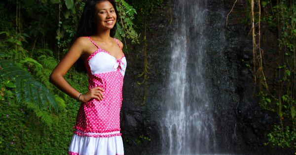 Robe pois - Elise Créations - Tahiti Facebook : Elise ...  Robe pois - Eli...