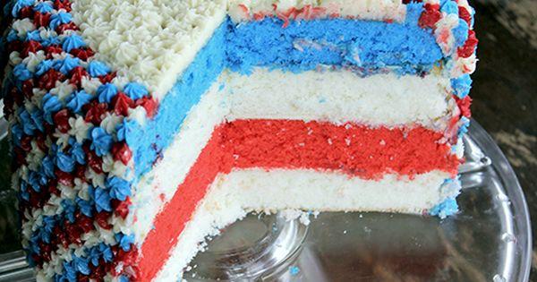 Color pattern- Patriotic cake