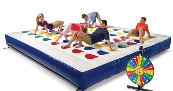 (inflatable twister) The Inflatable Outdoor Color Dot Game. This is the inflatable