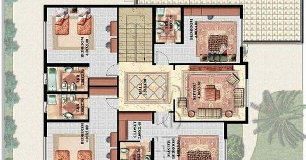 تصميم فيلا خليجى 5 غرف نوم Bungalow House Design House Design Design