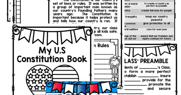 U.S. Constitution and Bill of Rights Unit of Study - Classroom Activities