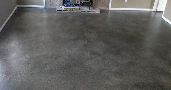 My Best Diy Project Yet I Painted My Concrete Floor I Did It All By Myself 2 Cans Of Lowes