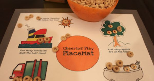 Cheerios Play Placemat Repeat Crafter Me Placemats Toddler Placemat Kids Playing