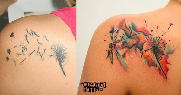 Small Tattoo Cover Ups: Small Cover Up. Abstract Tattoo