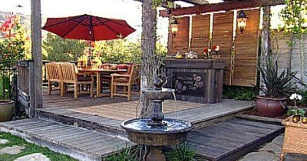 ديكورات حدائق منزلية 2014 حدائق منزلية 2014 ديكور حدائق عصرية Outdoor Patio Decor Decks Backyard Backyard