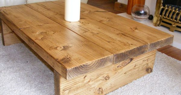 Coffee Table, Rustic Chunky,handmade,solid Wood | Solid Wood, DIY Furniture  And Tables