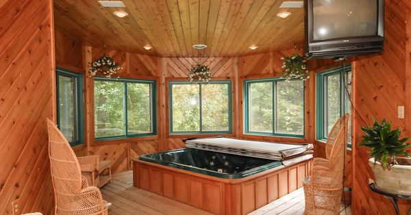 Indoor Hot Tub Room Work Out Room And Sauna Yes Please