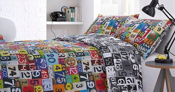 Ben De Lisi Black Numbers Bedding Set At Home Stuff Pinterest Home Ux Ui