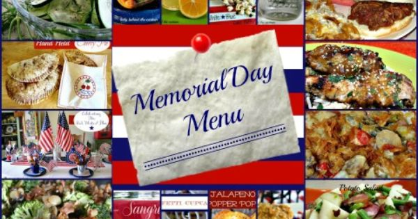 menu for memorial day celebration