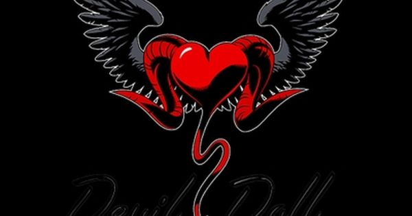 Pin On Hearts Black devil wings wallpaper