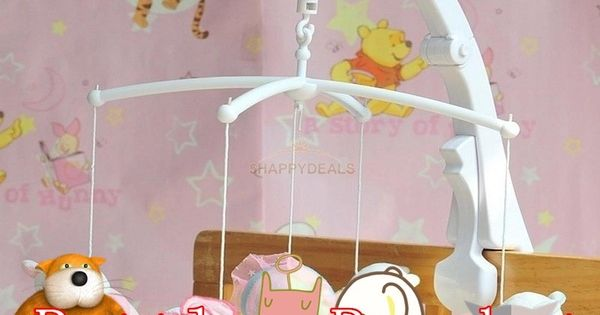 Fun Baby Crib Mobile Bed Bell Toy Holder Arm Bracket Clamp Wind-up Music Box New
