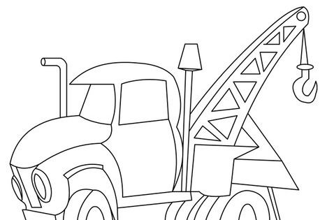 Tow Truck Coloring Page Kids