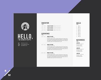 Resultat De Recherche D Images Pour Cv Paysage Creative Resume Creative Resume Templates Resume Template