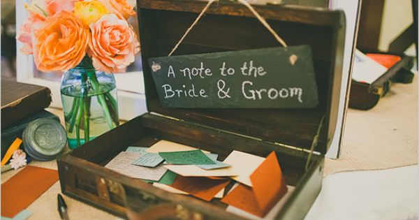 notes to the bride and groom, super sweet. you know you love