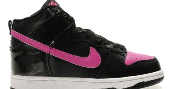 High Tops For Girls  Black Pink Nike Dunks High For Women -2288